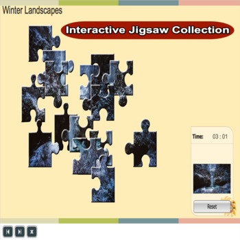 Winter themed Interactive Jigsaw Collection Grade 2-5