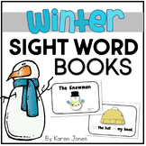 Winter themed Sight Word Books  {Winter Activities}