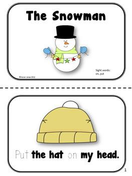 Winter themed Sight Word Books  {Winter Activities}