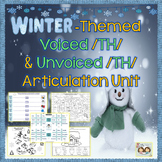 Speech Therapy: Winter-themed Voiced & Voiceless /TH/ Articulation Packet