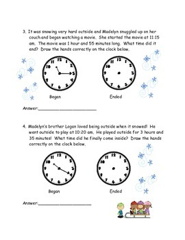 Elapsed time winter theme