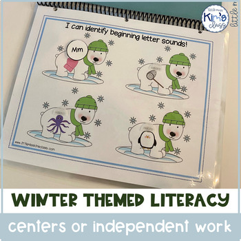 Winter themed literacy centers/ activities for special needs or kindergarten