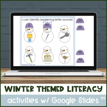 Winter themed literacy activities for special needs or kinder