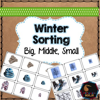 Winter themed math sorting