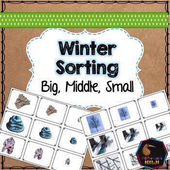 Winter themed math sorting