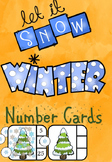 Winter themed number cards 1-30