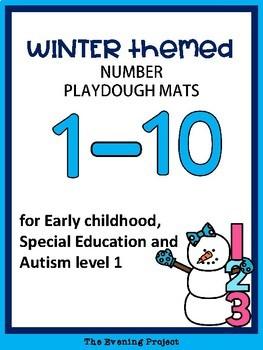 Winter themed playdough mats ( 1-10)