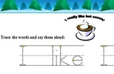 Winter-themed sight word practice packet