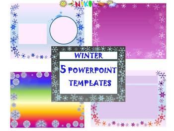 Winter Activities - 5 Editable Powerpoint templates