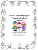 Winter themes pronoun has/have activity