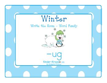 Winter -ug Word Family Write-The-Room