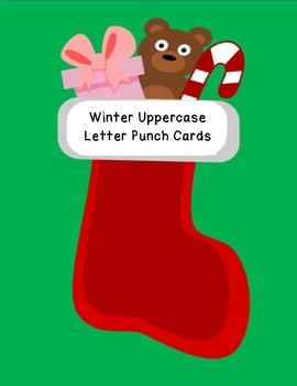 Winter uppercase letter hole punch fine motor hand strength common core