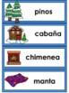 El Invierno: Spanish  Winter Vocabulary Cards Writing Center Word Wall