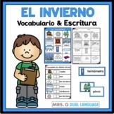 El Invierno: Spanish  Winter Vocabulary Cards Writing Center Word Wall