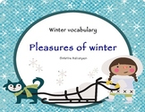 Winter vocabulary - poster