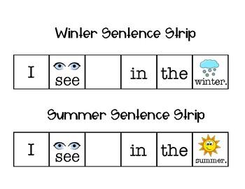 Winter vs. Summer Vocabulary Sort!