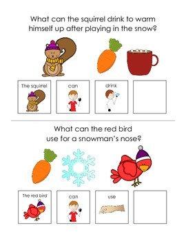 """Winter """"wh"""" Questions Interactive Books"""
