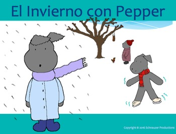 Winter with Pepper in Spanish