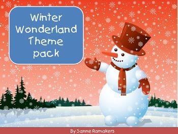Kindergarten Winter theme pack