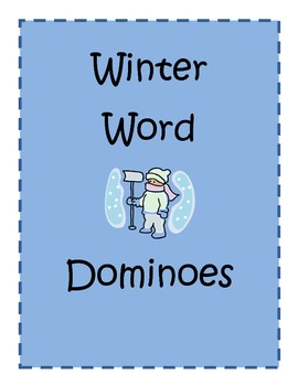 Winter word dominoes