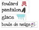 Winter word wall words- French Immersion