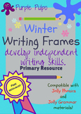 Winter writing frames