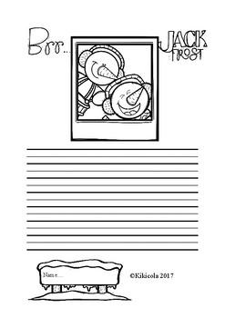 Winter writing sheets