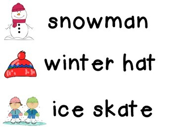 Winter writing station cards