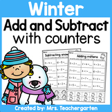Winter Addition and Subtraction with counters