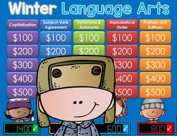 Winter/Polar theme Jeopardy Style Game Show - LA 2nd-4th Gr