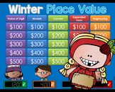 Winter Theme Jeopardy Style Game Show - PLACE VALUE
