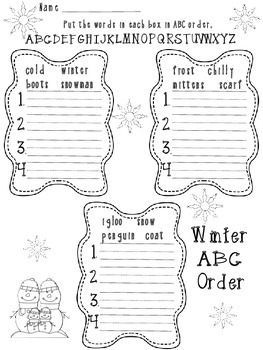 Winter/Christmas ABC Order