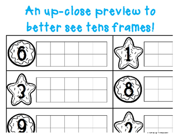 Winter/Christmas Cookie Tens Frame - Number Sense (1-10)