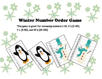 Winter/Christmas Number Order Game