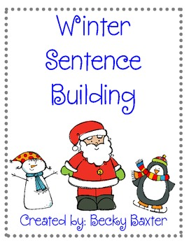 Winter/Christmas Sentence Building!