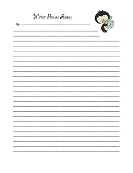 Winter/Holiday Gifts: 5-Paragraph Essay