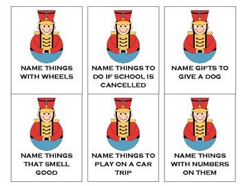 WinterHoliday Language Cards