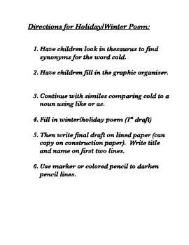Winter/Holiday Poem