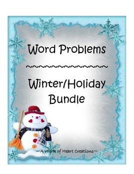 Winter/Holiday Word Problems