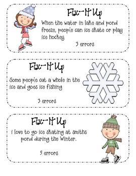 Winter/January Daily Fix-It Ups