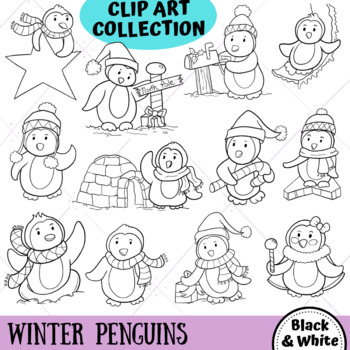 WinterPenguins Clip Art - Winter Wonderland Series