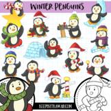 WinterPenguins Clip Art - Winter Wonderland Series