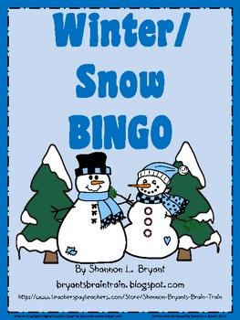 Winter/Snow BINGO Game