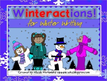 Winter Activities - {Winteractions For Winter Writing - Verb Cards}