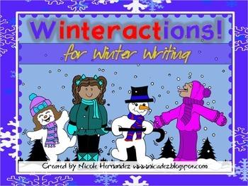Winter Activities - {Winteractions For Winter Writing - Ve