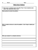 Winter/holiday story problems, word problems, number stories