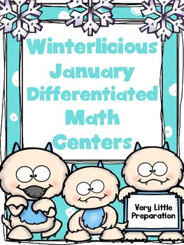 Winterlicious Differentiated  Math Centers