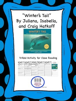 """""""Winter""""s Tale"""" Trifold Activity McGraw Hill Reading Wonders 5th Grade"""