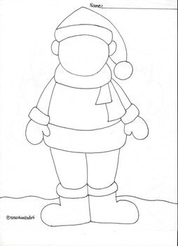 Wintertime Finish the Picture Coloring Pages