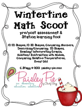 MATH: Wintertime Themed Math Scoot (Assessment)